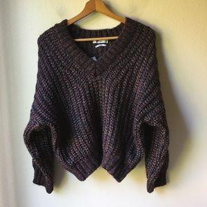 MANGO Wool Blend V-neck Sweater